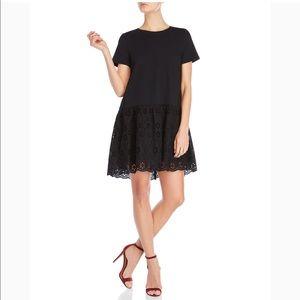 Kate Spade Broome Street Black Eyelet Dress Medium